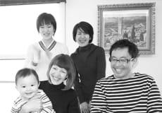 リノベーション幸せクライアント 白黒写真