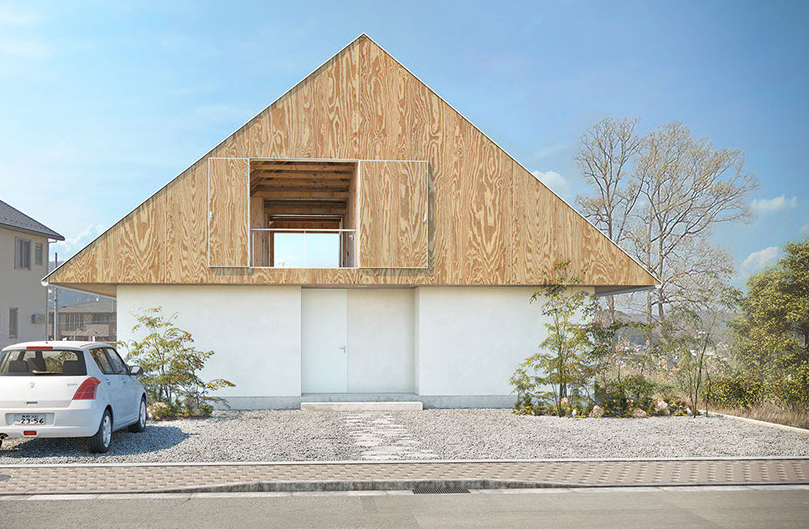 the house with a big roof on2 architects